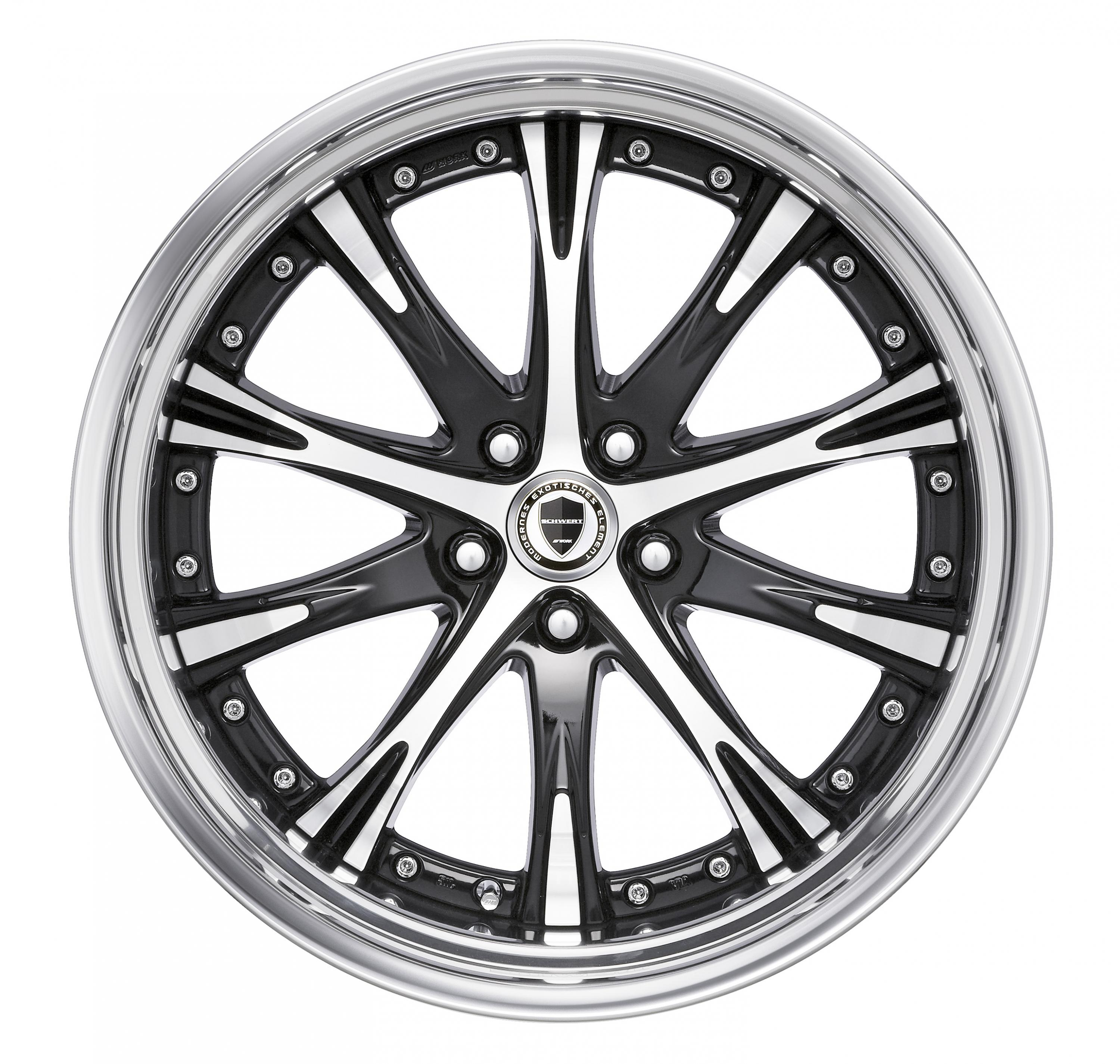 【STEP RIM】BLACK CUT CLEAR(BP) 20inch