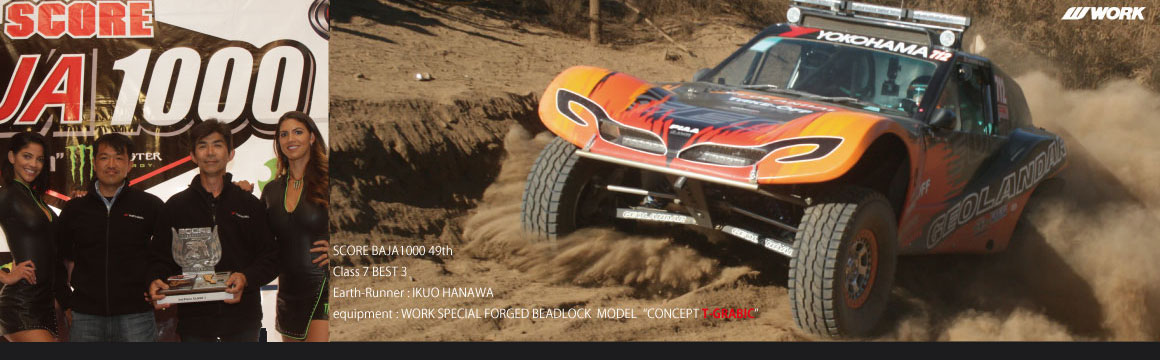 The world in harsh race SCORE BAJA1000, Hanawa players class third place