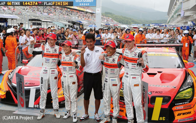 SUPER GT Rd,5 FUJI 300Km RACE  TEAM ARTA DOUBLE POLE TO WIN !!