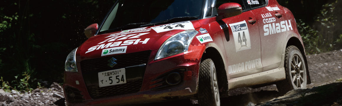 All Japan Rally Championship Round 4 JN1 Class Smashed DL Indigo Power Swift Class Winner