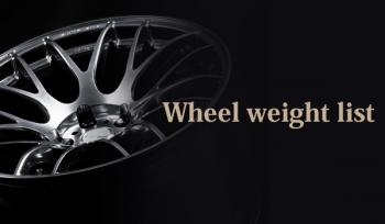 Wheel weight list