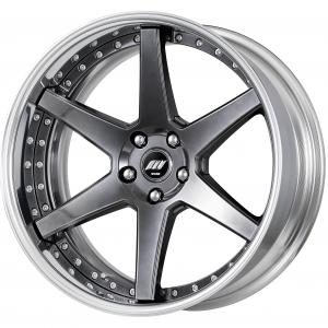 Brilliant Silver Black (BSB) 20inch Middle Concave