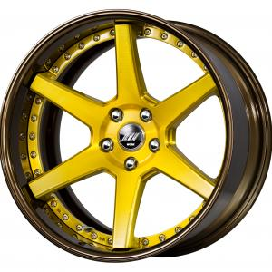 Imperial Gold Brushed (BUI) 19inch Deep Concave G Set ※ Color Rhythm Clear + COP: Bronze Alumite Rim (G)