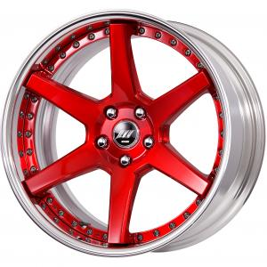 Clear Red Brushed (BUR) 19inch Deep Concave B Set ※ Color Rhythm Clear