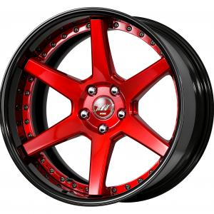 Clear Red Brushed (BUR) 19 inch Deep Concave B Set ※Color Rhythm Clear + COP: Black Alumite Rim (K)