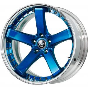 Clear Blue Brushed (BUL) 19inch Deep Concave B Set ※ Color Rhythm Clear