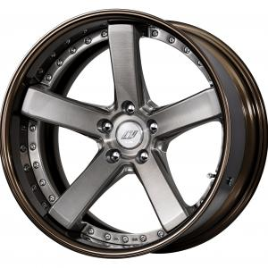 Trans gray brushed (BUA) 19 inch deep concave ※ color rhythm clear + COP: bronze alumite rim (G)