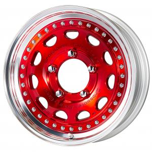 Colorism Clear: Silver Clear Red (MCR) * 16inch 5.5J +19 5H-139.7