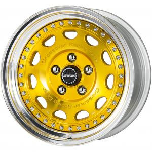 Colorism Clear: Imperial Gold (IPG) * 16inch 8.0J +13 5H-114.3 WORK Center Cap Specification